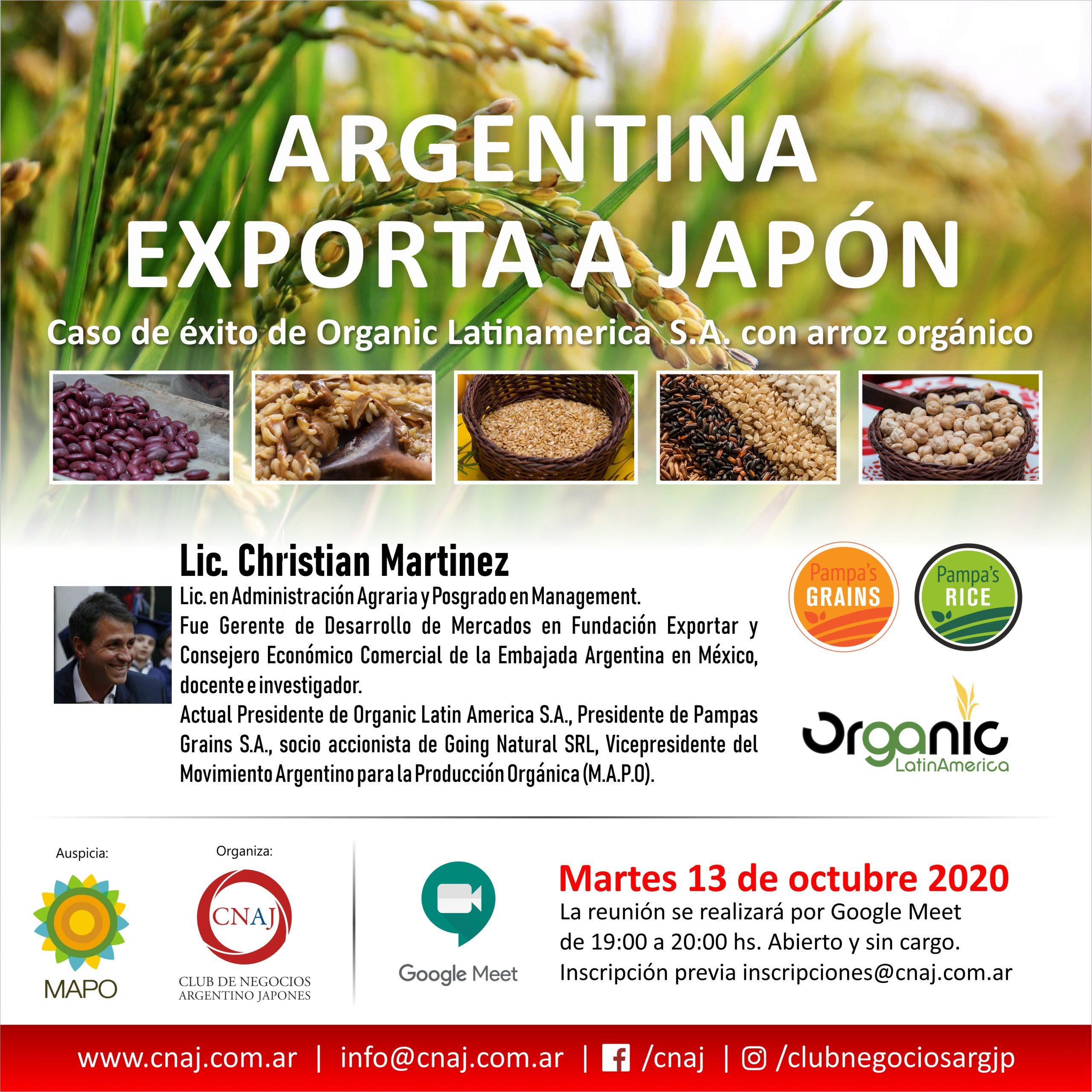 Argentina exporta a Japón